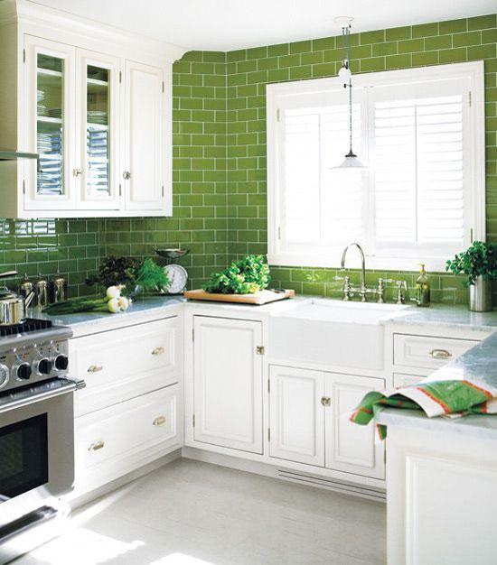 eurosplash is what we call an english style counter to ceiling tile backsplash  green eurosplash kitchen  rh   atticmag com