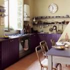 Purple Cabinet Kitchen