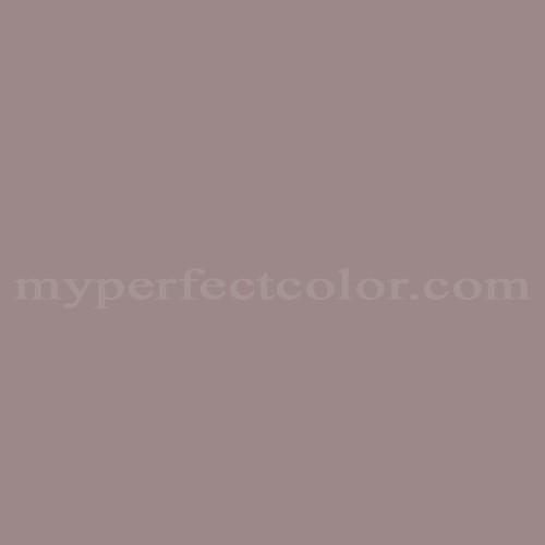 purple cabinet kitchen - Benjamin Moore Wet Concrete paint - myperfectcolor via atticmag