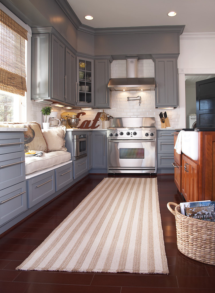 kitchen rugs - Capel Hampton Shingle Stripe fiber blend rug - Capel via Atticmag
