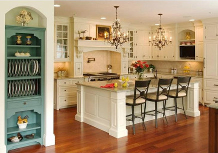 kitchen feature ideas - china storage niche adjacent to an open kitchen - crown point via atticma
