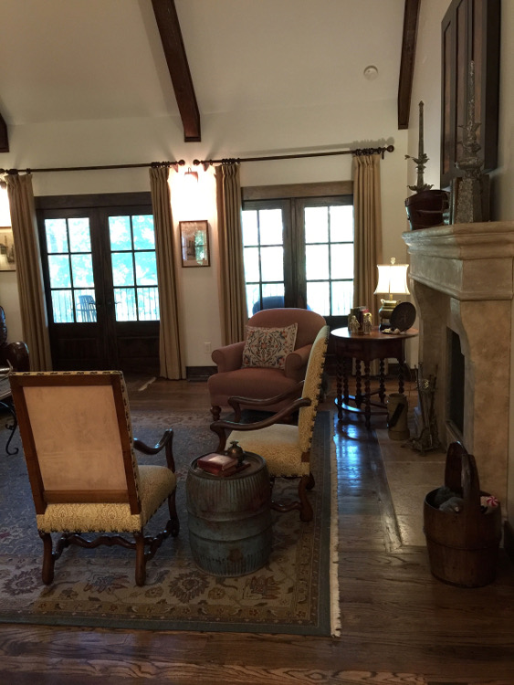 alabama stone cottage - great room Tulsa architect Jack Arnold - atticmag
