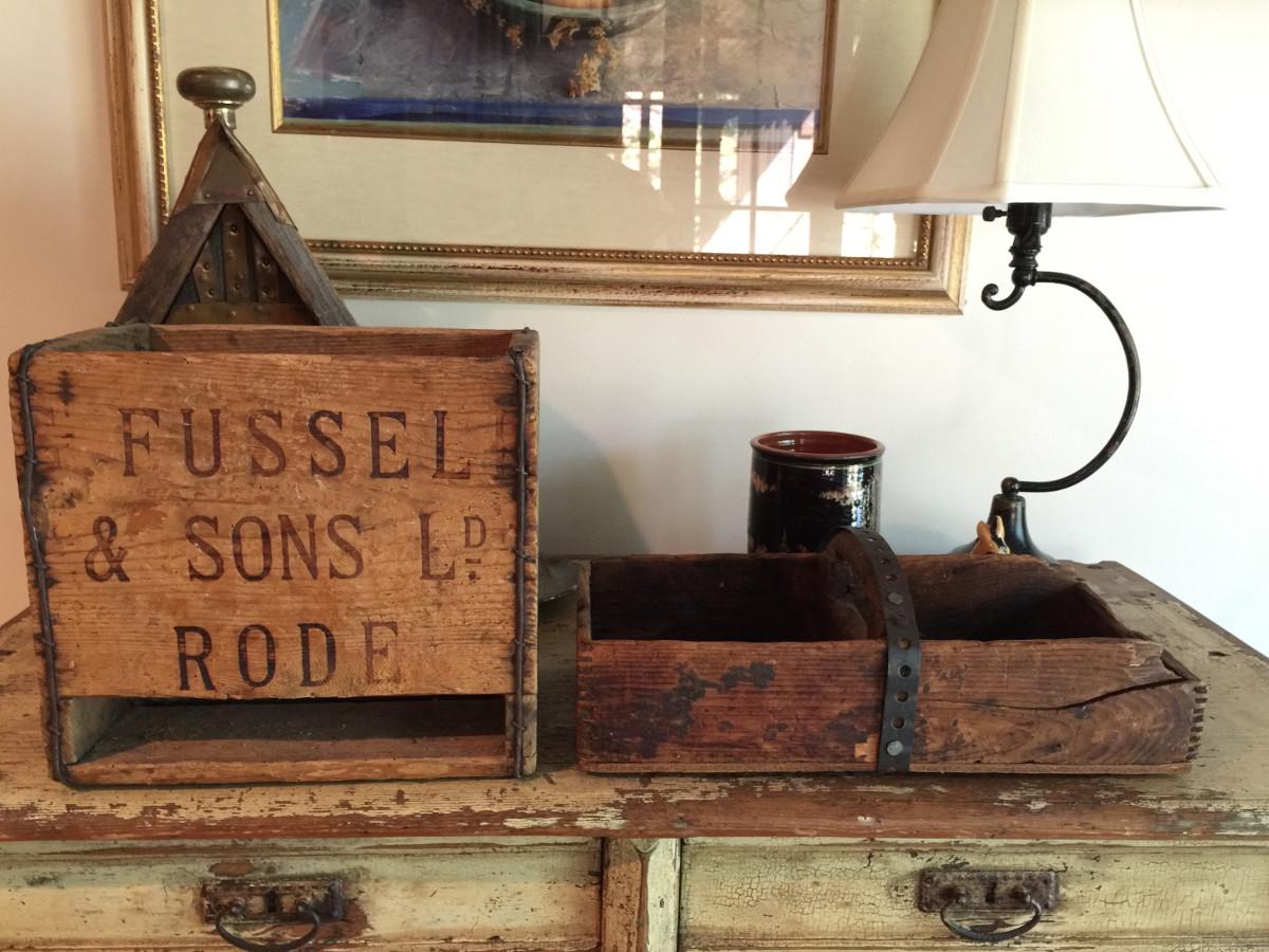repurposed vintage wooden boxes - Atticmag