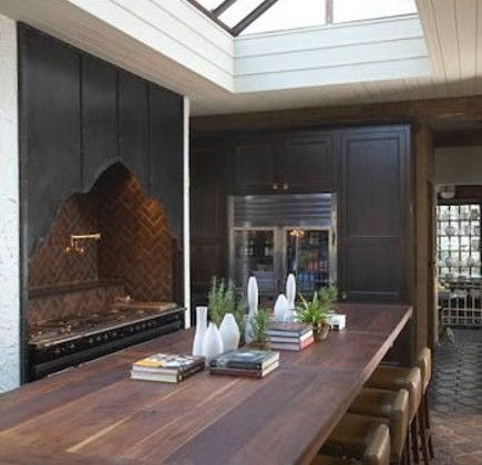 historic home kitchen - 18 foot island in the new kitchen of the Salie House in Homewood, Alabama - Atticmag