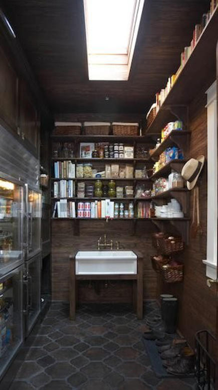 historic home kitchen - pantry with pass through Traulsen refrigerator and farm sink in the Salie House, Homewood, Alabama - 11 Bonita via Atticmag