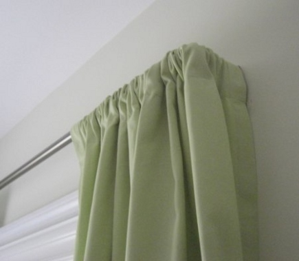 curtain secrets rod pocket curtains gathered on a highland forge return drapery rod atticmag
