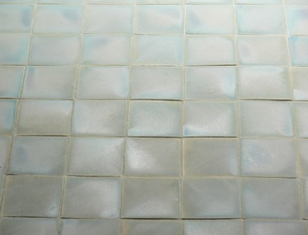robins egg blue matte ceramic mosaic floor tile by trikoni tileworks