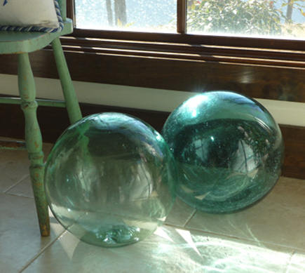 large Japanese glass fishing floats - Northwest Magazine via Atticmag