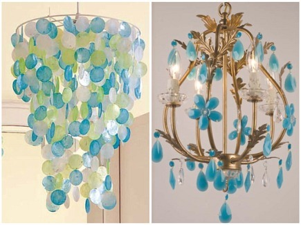 turquoise beads six light chandelier source chandeliers - Turquoise Chandelier Light