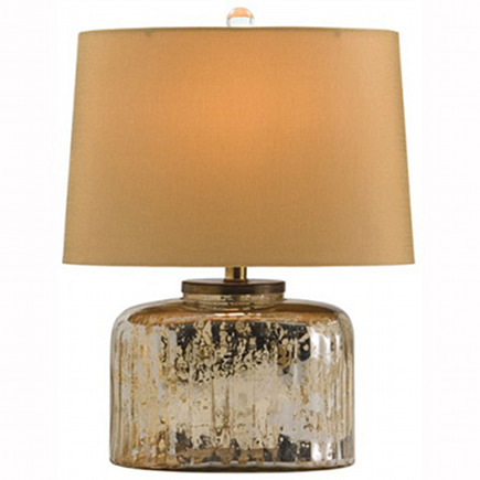 metallic décor - mercury glass table lamp by Arteriors Home via Atticmag