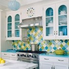 Turquoise Harlequin Kitchen
