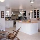 Beadboard Ceiling Kitchen