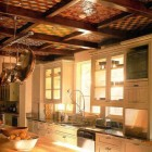 Elaborate Tiled Kitchen Ceiling