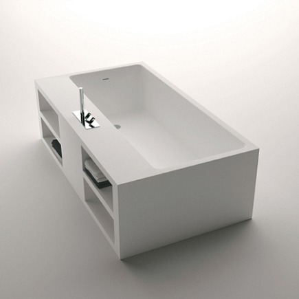 Italian bathtub - Rectangular agape cartesio bathtub - Agape via Atticmag
