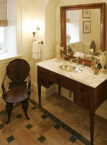 Bathroom Vanities Made From Furniture traditional powder room think