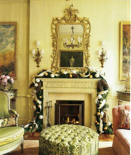 Christmas mantels - formal decoration by zeze - via atticmag