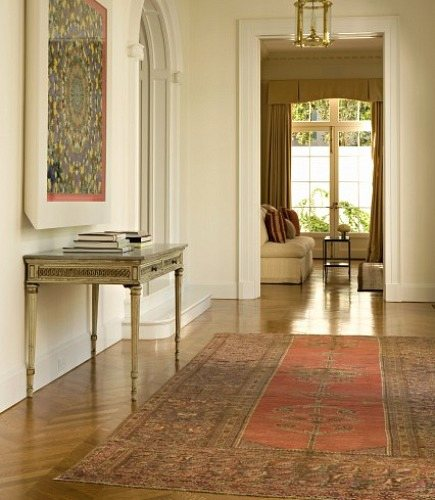persian rug used as hallway runner from Elizabeth Dinkel Design