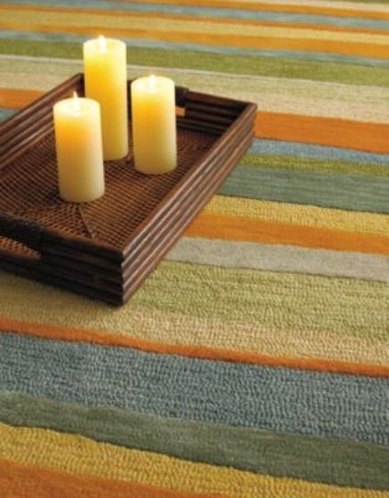 area rugs - colorful striped wool Sun Kissed rug from Company C via Atticmag