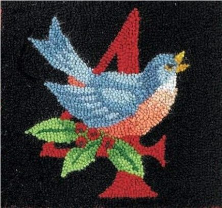 12 Days Of Christmas Rug 4 Calling Birds Section The Hand Hooked Ilrating