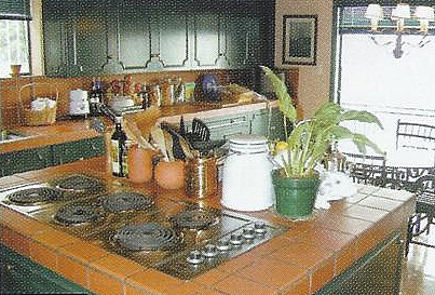 kitchen before renovation in a house once owned by Errol Flynn