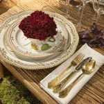 Royal Copenhagen Christmas tables 2010 - Flora Danica on 2010 Christmas table via Atticmag