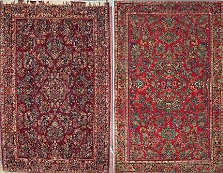 Marvelous Side By Side Of Karastan And Reproduction Copy Oriental Rug   Via Atticmag