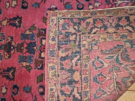 Painted Oriental Rugs   Front And Back Detail Of A Washed And Painted Rug    Via