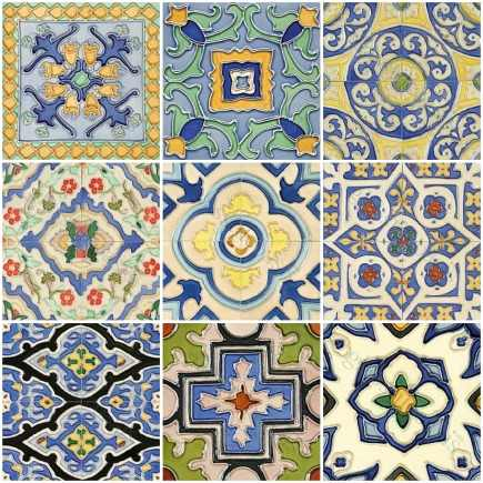hand painted tiles Mission series by Glass Tile Oasis