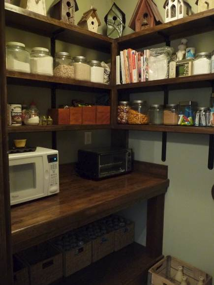 pantry ideas - alabama stone cottage pantry with built in work table for small appliances and prep - Atticmag