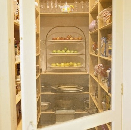 kitchen pantry with screen door entrance