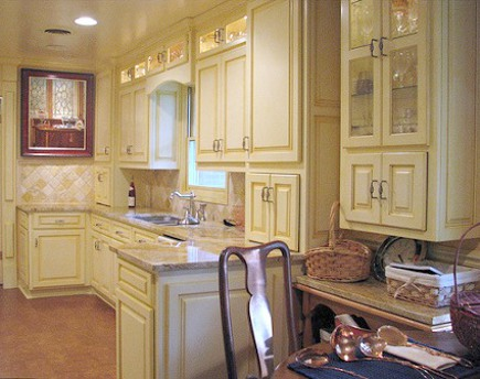 Cream Kitchen Cabinets With Glaze - Rooms