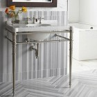Gray and White Striped Marble