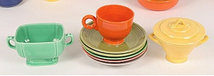 red-orange fiestaware - via Atticmag