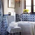 Blue and White Portuguese Tile Bath