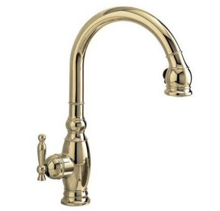 top kitchen faucets - #1 rated Kohler Vinnata pull down faucet in polished nickel - Kohler via Atticmag