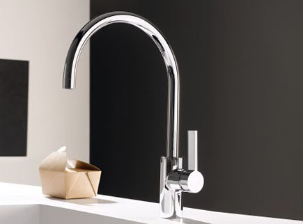 kitchen faucets - Dornbracht Tara Ultra single-lever mixer, the modern standard - Dornbracht via Atticmag
