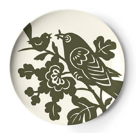 Aviary pattern by Thomas Paul melamine tray from Seltzer Studio