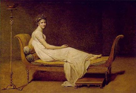 chaise longue,- Jacques-Louis David portrait of Mme. Recamier from the Louvre via Atticmag