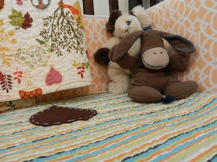 eclectic gender neutral nursery custom crib bedding and organic quilts - Atticmag