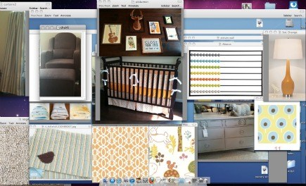 eclectic gender neutral nursery design project board
