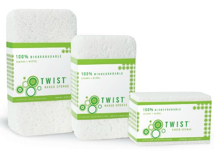 Naked Sponges biodegradable eco-friendly kitchen cleaning tools - Twist via Atticmag