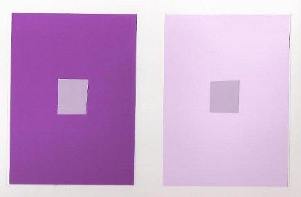 color tricks - color study of simultaneous contrast - Atticmag