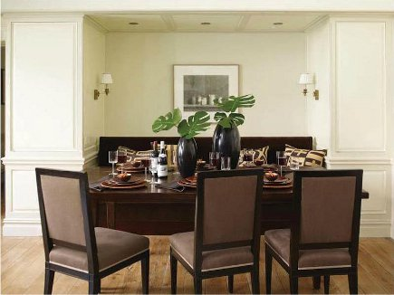 Built In Modern Dining Room Storage Eliminates The Need To Display Dishes Or Glassware