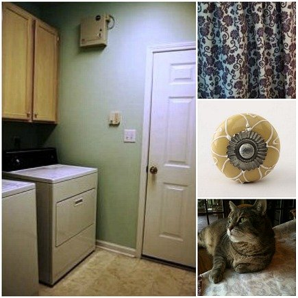 hidden laundry spaces - my daughter's laundry room before renovation - Atticmag