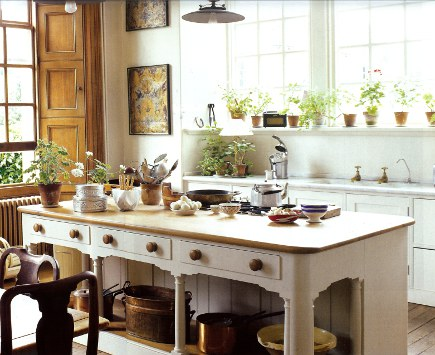 In A Historic House Focused On Antiques, Jasper Conranu0027s Kitchen Island  Quietly Rocks.