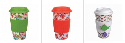 eco cup reusable floral coffee cups from Daytrip Society