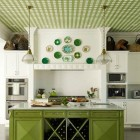Various Degrees of Green Kitchens