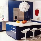 Electric Blue Kitchen