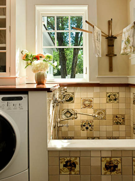 Crossing A Sink And A Small Tub Creates The Perfect Pet Washing Sink In The Utility  Room.