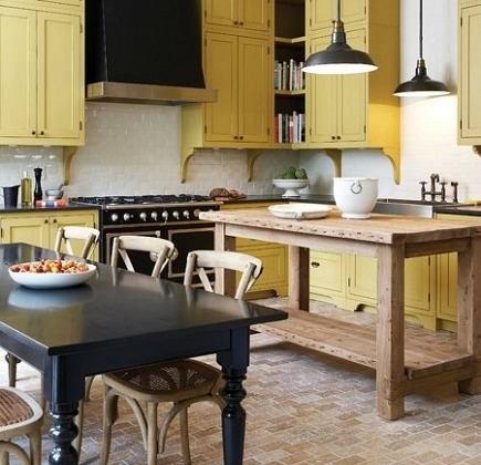 Mustard Yellow Kitchen